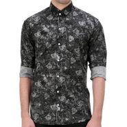 Printed Cotton Shirt_Gkdigibl - Black