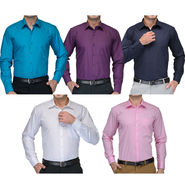 Combo of 5 Being Fab Cotton Formal Shirts_combo2