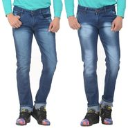 Pack of 2 Forest Plain Slim Fit Jeans_Jnfrt913 - Blue
