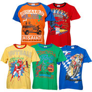 Pack of 5 Little Star Printed Boy's Round Neck Multicolor T-Shirt