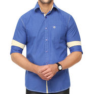 Crosscreek 100% Cotton Shirt For Men_1080305f - Blue