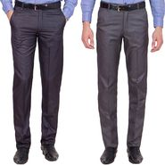 Tiger Grid Pack Of 2 Cotton Formal Trouser For Men_Md031