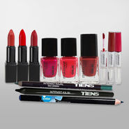 Combo of 12pcs Cosmetics Kit - Lipstick, Nail Paints, Lipgloss, Eyeliner