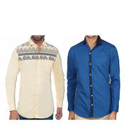 Pack of 2 Slim Fit Cotton Shirts For Men_A50139161 - Multicolor