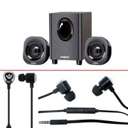 Combo of Envent Hottie Speaker + Envent Earphone With Mic
