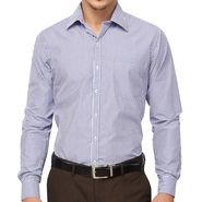 Copperline 100% Cotton Shirt For Men_CPL1171 - White & Blue