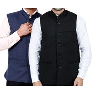 Pack of 2 Rico Sordi Nehru Jacket_Rsd1136 - Navy & Black