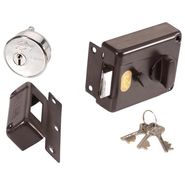 Godrej 7 Lever Night Latch Inside Opening Lock (Brown)