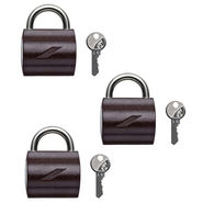 Godrej Texture Brown Mylock Padlock - Set Of 3