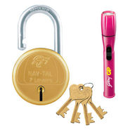 Godrej Nav Tal 7 Lever Padlock (Golden) with Torch (Assorted color)