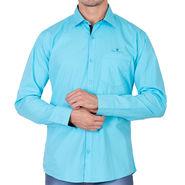 Branded Full Sleeves Cotton Shirt_R25klgrn - Green