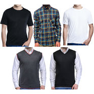 Combo of Oh Fish 1 Cotton Shirt + 2 Sweaters + 2 Tshirt