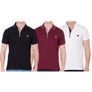 Combo of 3 American Elm Cotton Tshirts_Mhs18