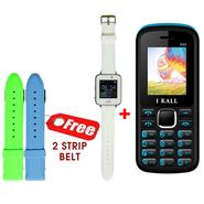 Combo of UNI N7100 Smart Watch (White) + I Kall K55 Feature Phone Mobile