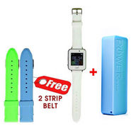 Combo of  UNI N7100 Smart Watch With SIM (White) + VOX 2600 mAh USB Powerbank Portable Charger