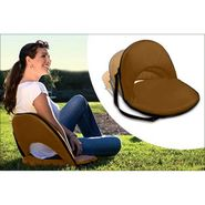 Kawachi Portable Reclining Yoga Chair With 6 Adjustable Positions And Shoulder Strap- Brown
