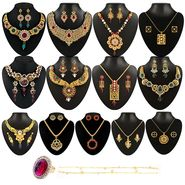 Kriaa 13 Jewellery Set With Free Ring & One Payal_1002204