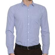 Being Fab Checks Shirt For Men_Bfwdc112 - White & Blue