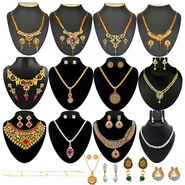 Kriaa 13 Jewellery Set With Free Three Earrings & One Payal_1002141