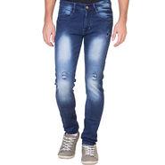 Slim Fit Stretchable Jeans For Men_Fpj158 - Blue