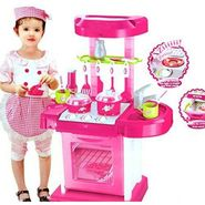 Kids Battery Operated Portable Kitchen Playset