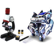 Kids DIY Science Kit of Microscope & Space Bot Toy
