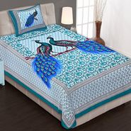 Priya Fashions Cotton King Size Jaipuri Printed 1 Single Bedsheets With 1 Pillow Covers-70X100B10