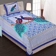 Priya Fashions Cotton King Size Jaipuri Printed 1 Single Bedsheets With 1 Pillow Covers-70X100B11