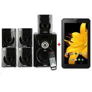 Combo of I Kall Tanyo 5.1 Speaker Sytem - Black + I Kall N2 Kitkat 3G Calling Tablet - Black