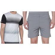 Combo of 1 Adidas Casual Short & 1 Plain Full Sleeves Tshirt_Os018