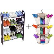 12 Pair Stackable Shoe Rack With Smart Carousel Organiser - 12SHWSMSR