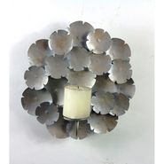 Wall Candle pillar holder - Silver1405-1525