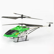 Rechargeable 3 Channel Metal Body Remote Controlled Helicopter - Black & Green