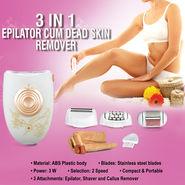 3 in 1 Epilator cum Dead Skin Remover
