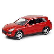 RMZ Porsche Cayenne Turbo Matte Red Pullback Diecast Toy Car