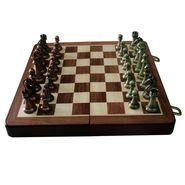 Handmade Folding Chess Board With Metallic Pcs