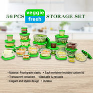 56 Pcs Veggie Fresh Storage Set