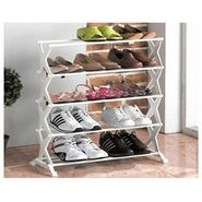 5 Tier Foldable Stainless Steel Shoe Rack 16 Pair - 5SHRCK