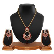Vendee Fashion Stylish Pendant Set - Maroon