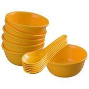 12 Pc Urmi Soup Bowl W/Spoon Set - Yellow