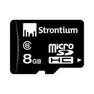 Strontium Class 6 Micro SD 8GB Memory Card - Black