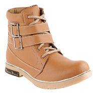 Bacca bucci Faux Leather Boots 974 - Tan