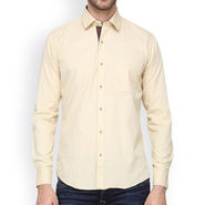 Crosscreek Full Sleeves Cotton Casual Shirt_319 - Off White