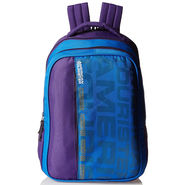 American Tourister Polyester Blue & Purple Backpack -A02