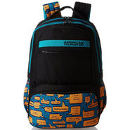 American Tourister Polyester Black Backpack -A07