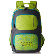 American Tourister Polyester Lime Backpack -A11