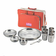 Aristo Raninbow Touch Lunch/Dinner Set with Traveling Bag - Silver - 12361042