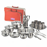 Aristo Raninbow Touch Lunch/Dinner Set with Traveling Bag - Silver - 12361043