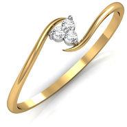 Avsar Real Gold & Swarovski Stone Kirti Ring_A022yb