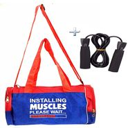 Combo Of Protoner Gym Bag - Installing Muscles Please Wait With Rope